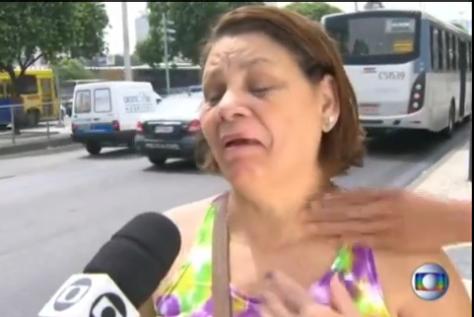 Ladrao tenta roubar entrevistada no Rio de Janeiro