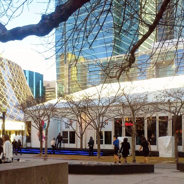 World MasterCard Fashion Week Toronto at David Pecaut Square Fall Runway Shows, WMCFW, style,trends, the purple scarf, melanie.ps, street, ontario, canada, designers, tents, fall, winter