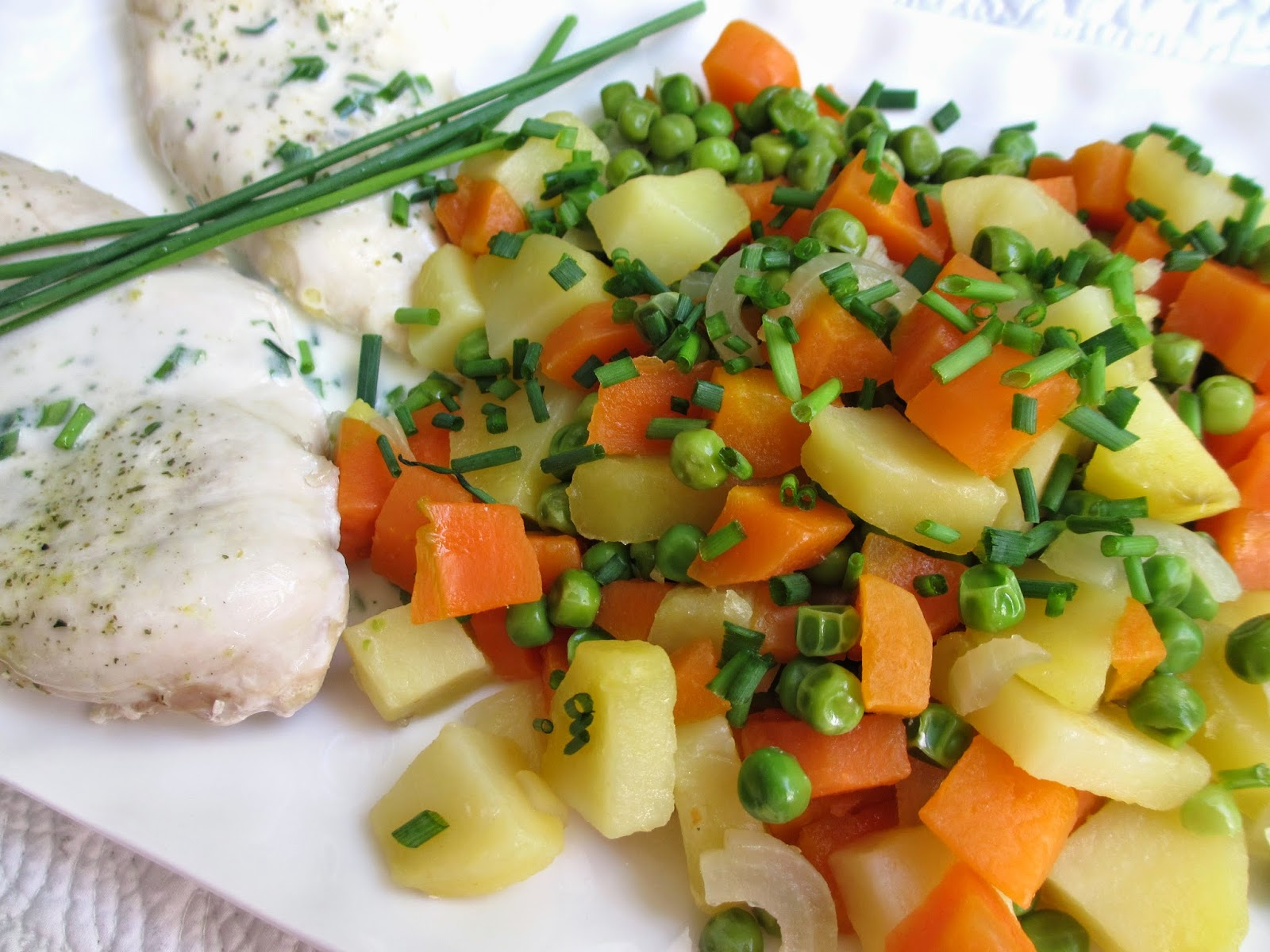 Cooking julia filets de poulet et leur jardini re de l gumes - Cuisiner des filets de poulet ...