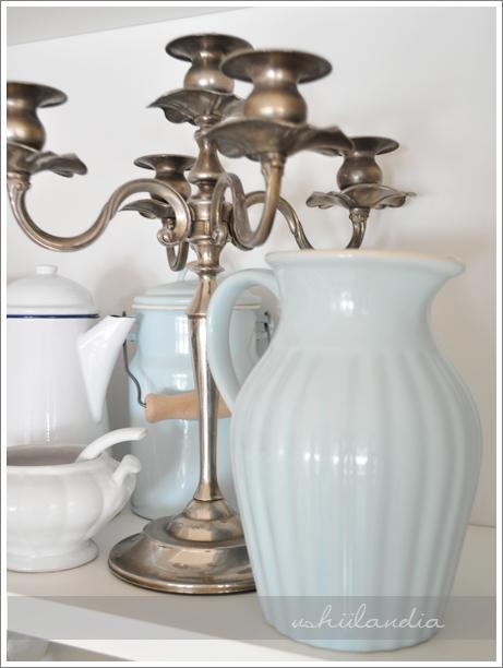 ceramiczny dzbanek błękitny pastelowy IB Laursen