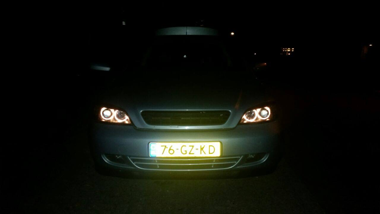 Astra G Lampen : Opel astra g coupe angel eyes