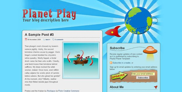 Planet Play Premium Blogger Template