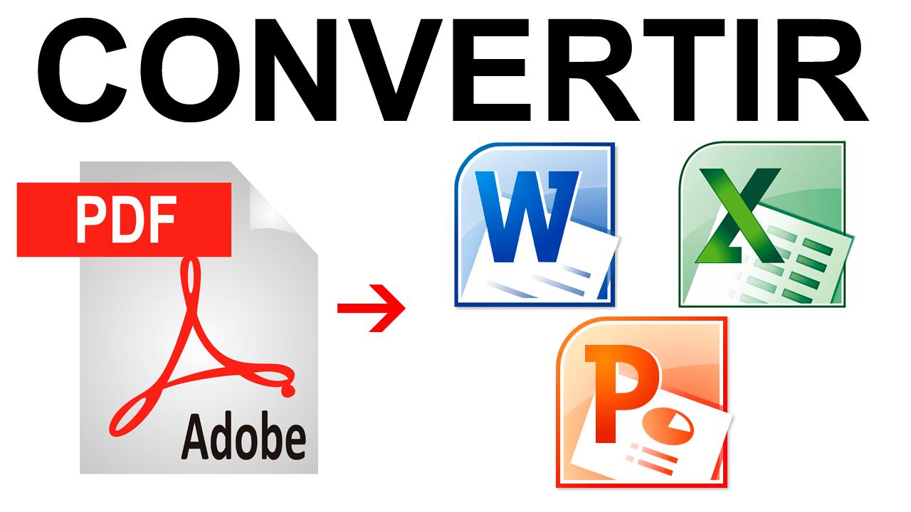 """... Cómo Convertir un """"PDF a Word, Excel o Power Point"""" en 2 minutos"""