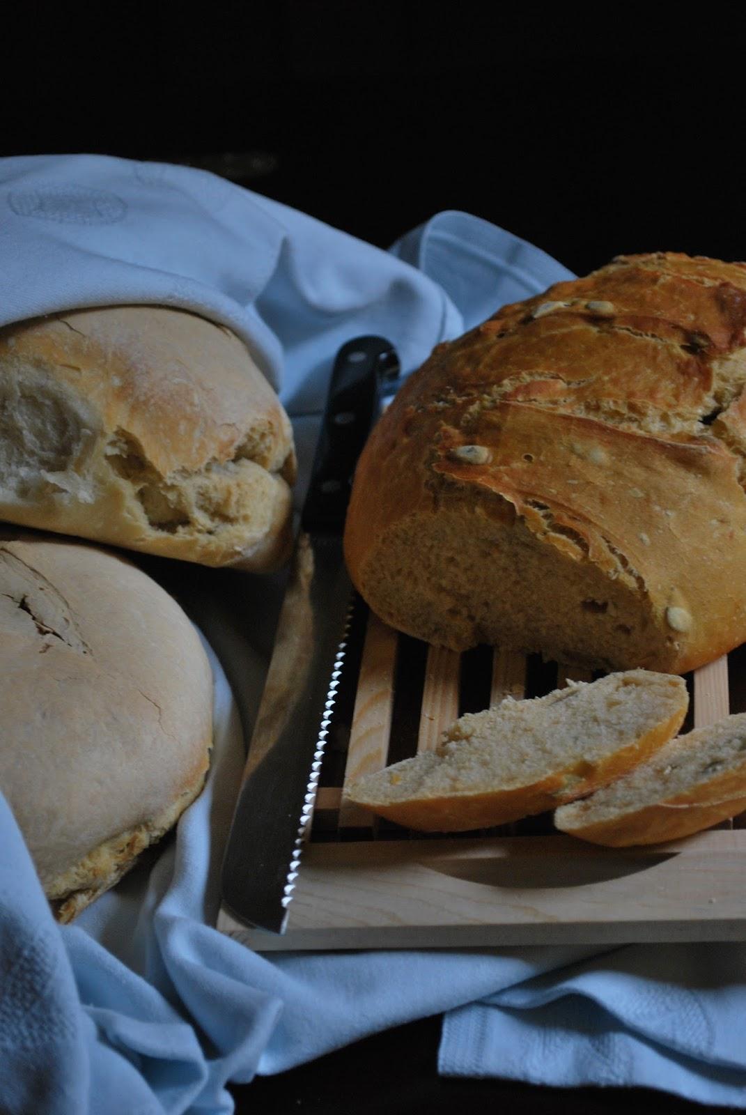pane alla zucca e semi di zucca con pasta madre