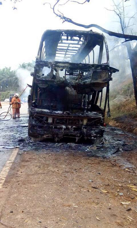 43 Terlibat Insiden Bas Terbakar