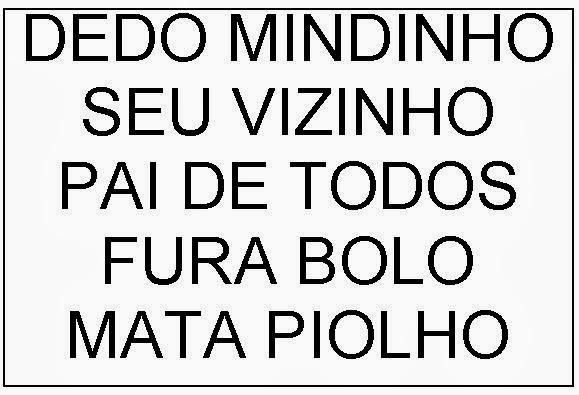 Atividade de Português - Dedo mindinho - atividade