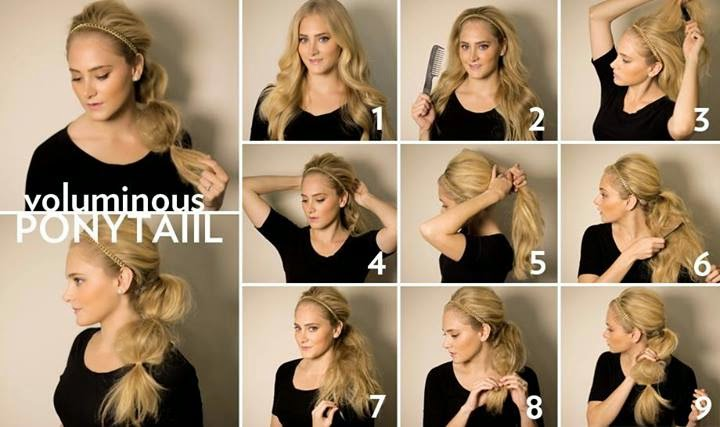 How to Style a voluminous flipped curly ponytail!