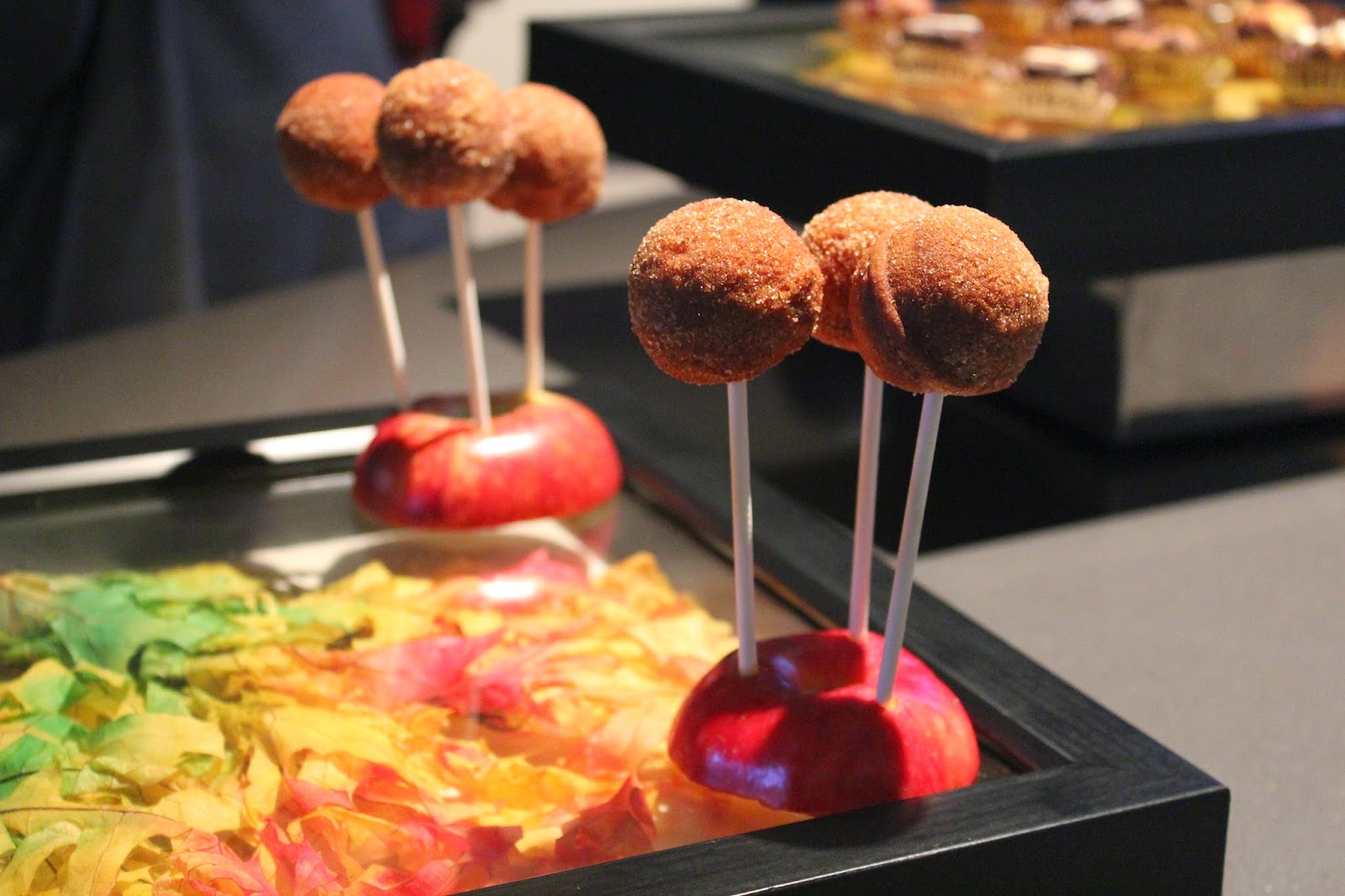 Apple cider doughnut pops at Studio at the Royal Sonesta Boston