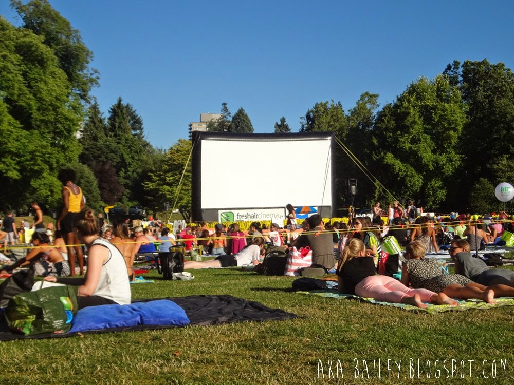 Fresh Air Cinema Stanley Park in Vancouver
