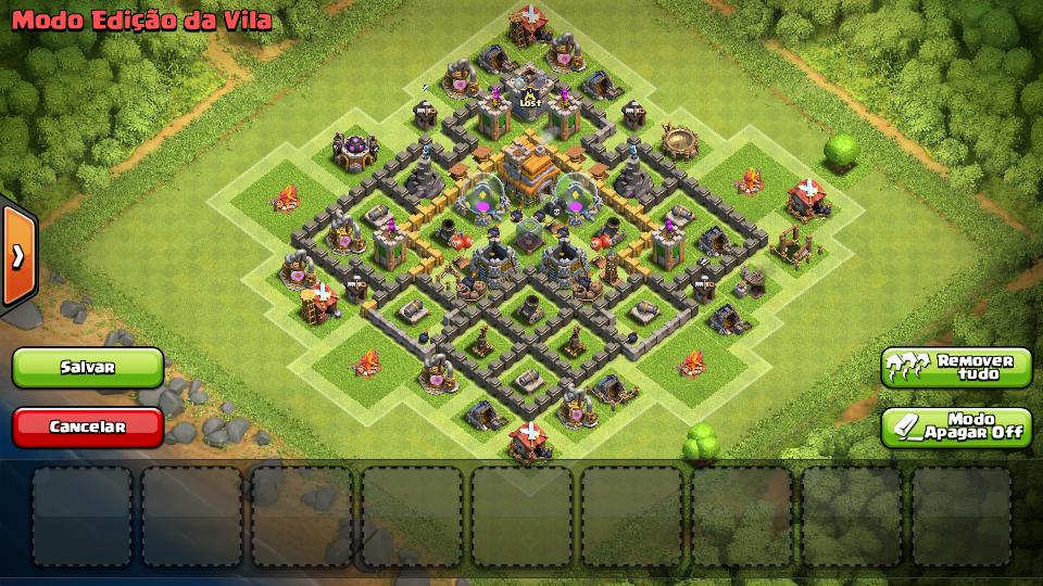 layout cv 7 clash of clans iniciante bg online