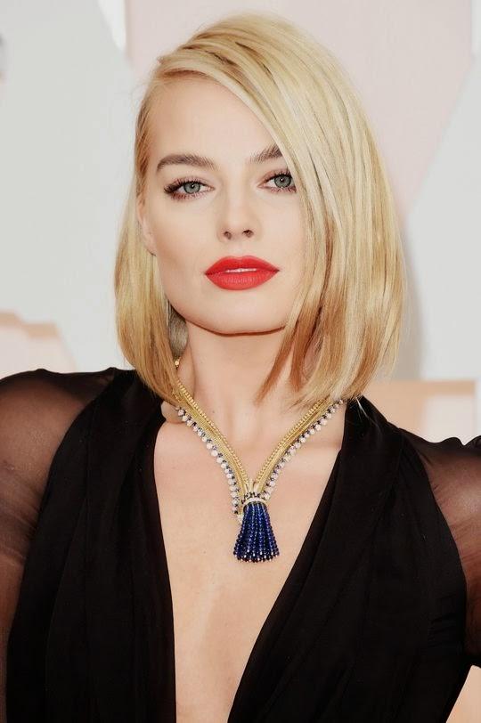 Margot Robbie Makeup Look Oscars 2015