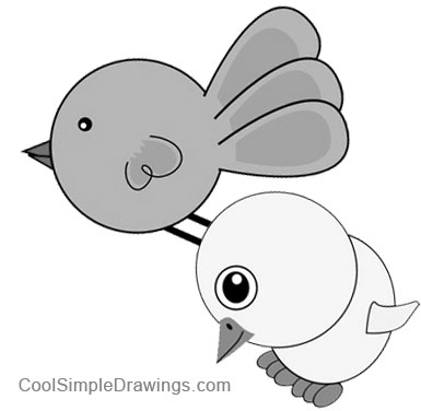 Simple Bird Drawings For Kids Images & Pictures - Becuo