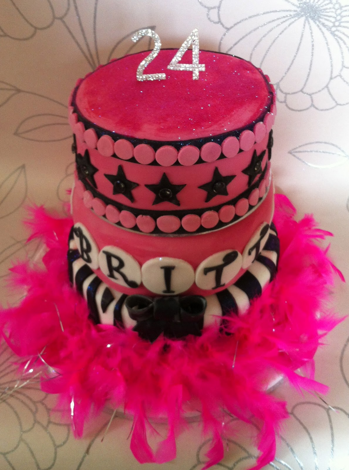 The Fondant Fairy 24th Birthday Cake