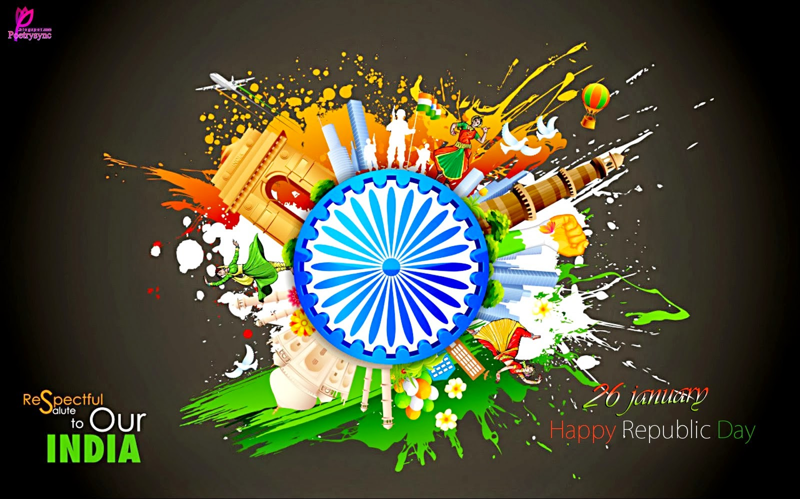 2015 India Republic Day Jan 26 Greetings Messages Wallpaper Whatsapp