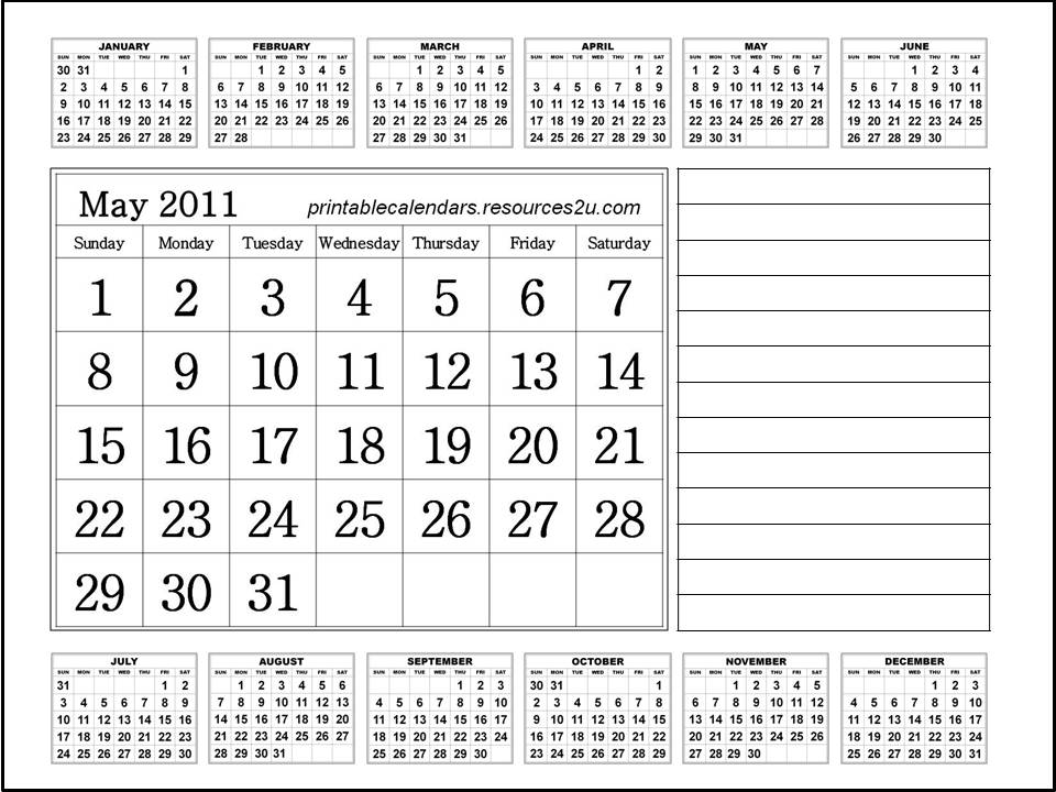 calendar 2011 may printable. printable calendar 2011