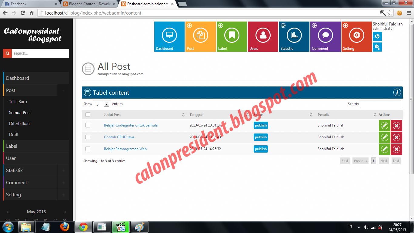 Tutorial Codeigniter Content Management System CMS