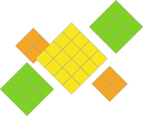 Diamond grid layout with Sass