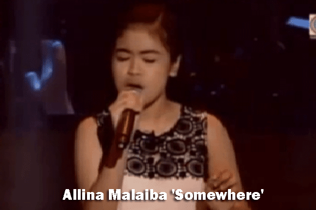Allina Malaiba 'Somewhere' on The Voice Kids Blind Audition