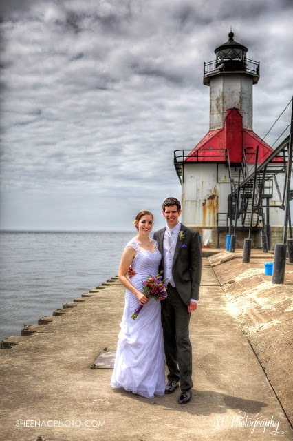 Saint Joseph Michigan lighthouse wedding