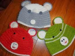 mũ len kiểu gấu cho bé trai