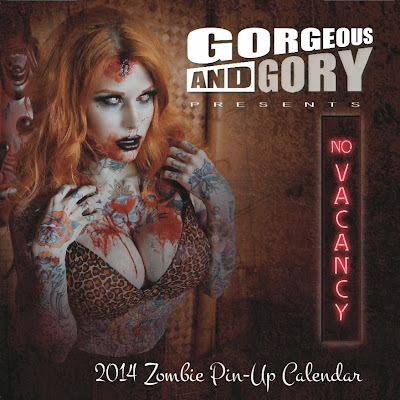 Gorgeous And Gory - Zombie pin-up calendar