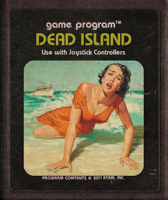 Dead Island Atari game Cartucho Imagem Praia Arte Retro 2600