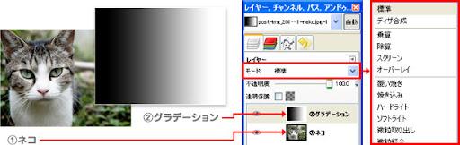 GIMP2の使い方 - レイヤーモードの効果①