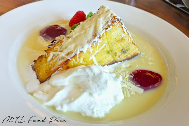 White Chocolate Bread Pudding - Bazille dessert menu