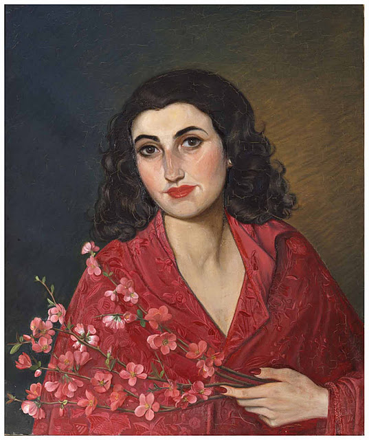 EL arte y las pinturas del caudillo Francisco Franco. Retrato de Carmen, su hija.