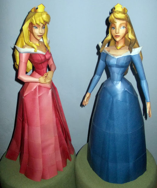 This Disney Papercraft Is The Princess Aurora Based On Animated Film Sleeping Beauty Also Appears In Kingdom Hearts Game Series Paper Model