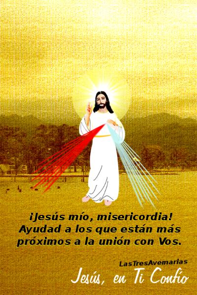 fotografia de jesus con oracion para las benditas almas