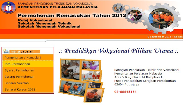 , Sekolah Menengah Teknik Dan Sekolah Menengah Vokasional Tahun 2012