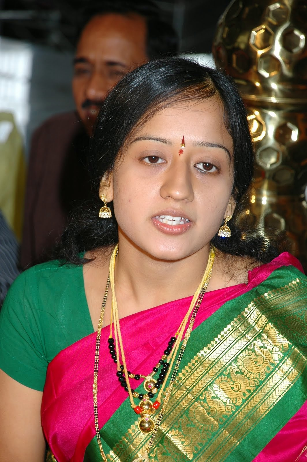 Beautiful Malayali Housewife during Marriage Celebration