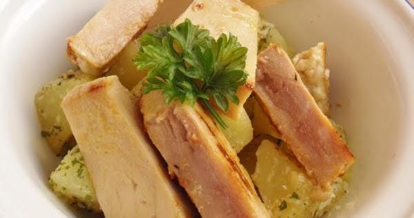 At n con miel y mostaza acompa ado de ensalada r pida de - Cocinar atun congelado ...