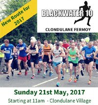 Blackwater 10 miler nr Fermoy...New Course...21st May 2017