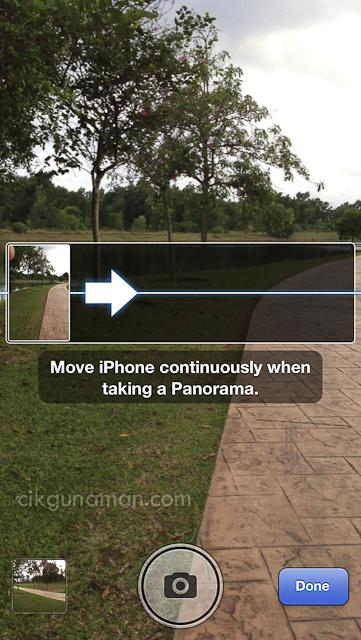 Gambar panorama iPhone 5