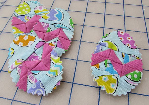 Quilted Easter Egg Pins