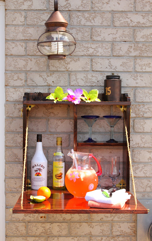 Turtles and tails it 39 s five o 39 clock somewhere diy for Diy patio bar