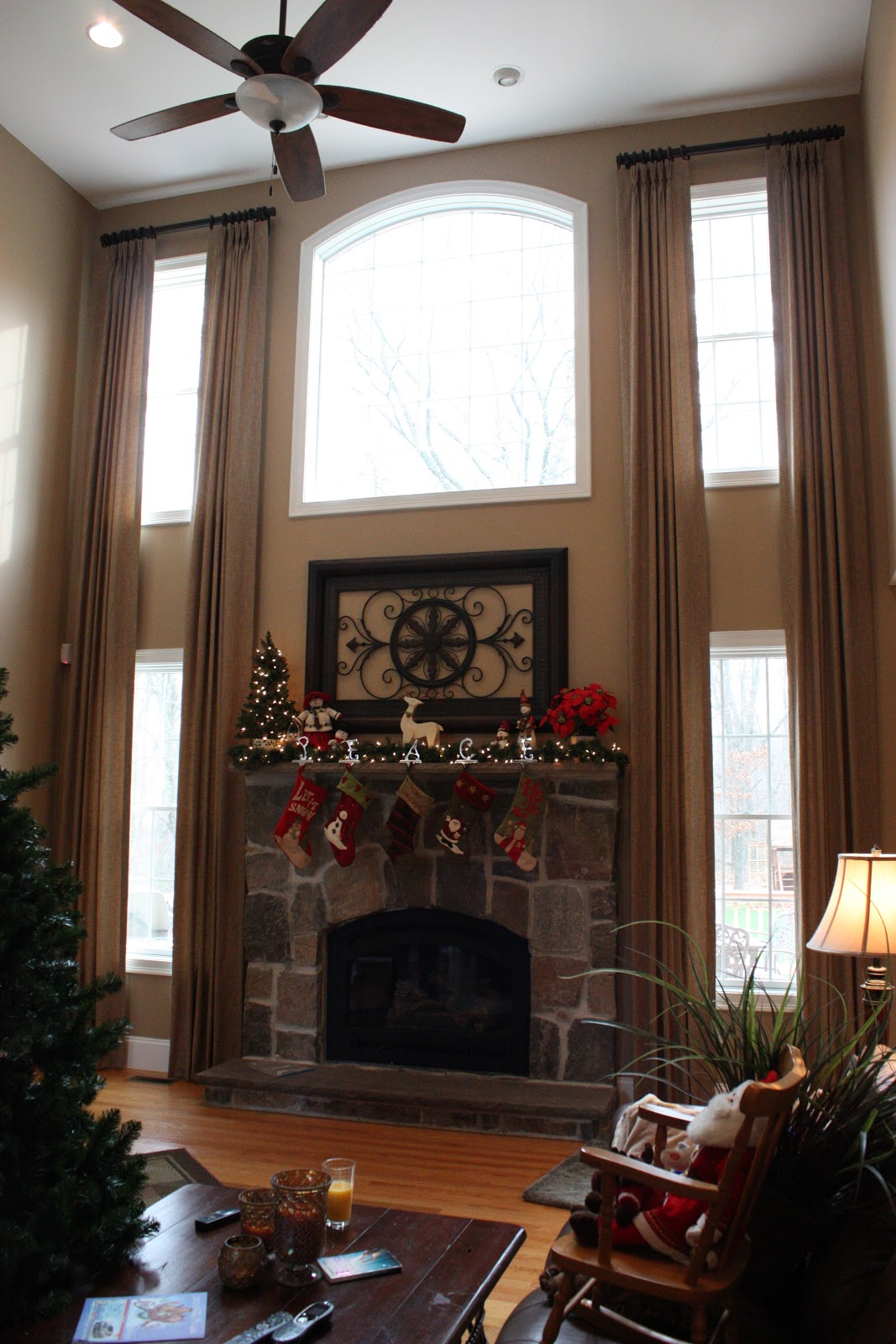 Two Story Living Room Decorating Carol Beck Home January 2012