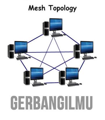 Gambar topologi - Mesh