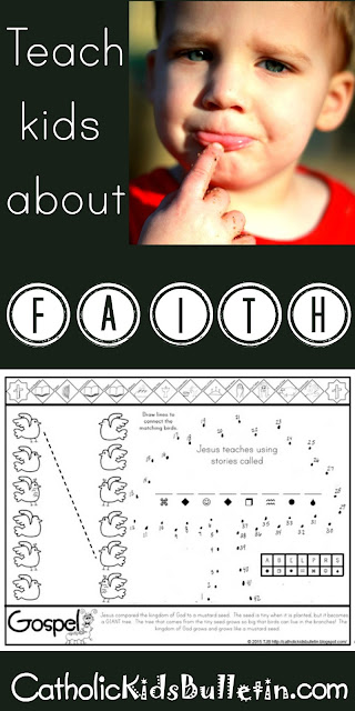 Catholic Kids Bulletin, Kids can learn at Mass, FREE PRINTABLE