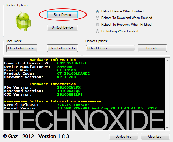 samsung quick root