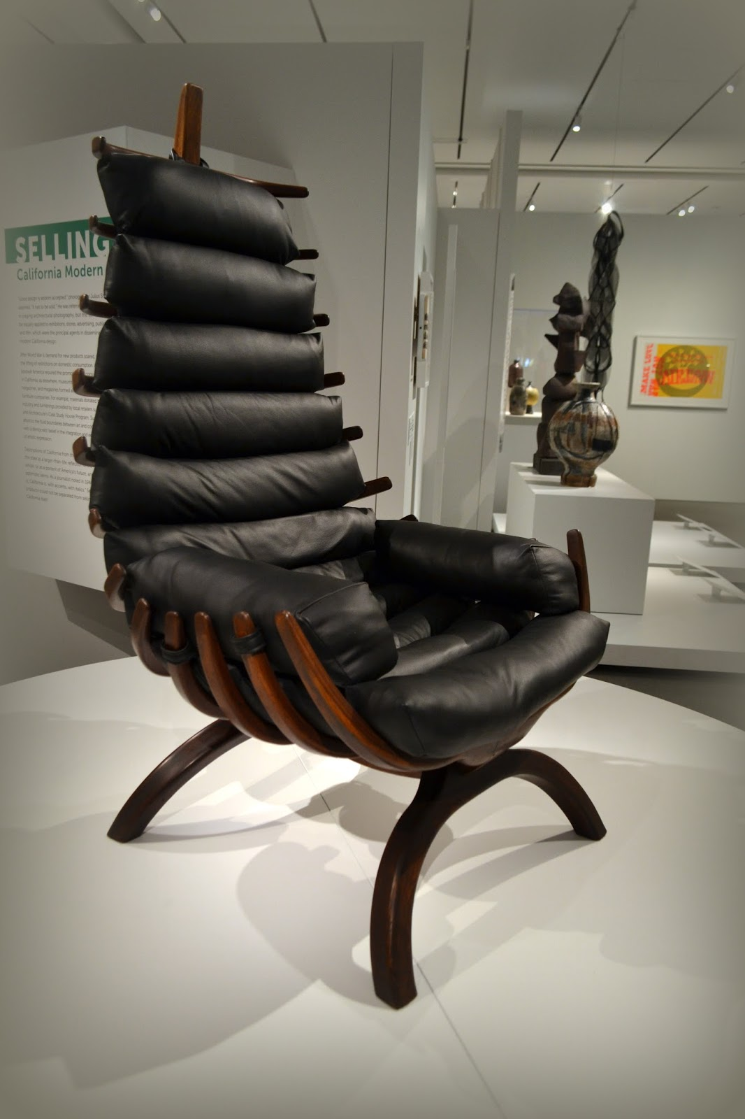 soft, exhibit, california style, pem, peabody essex museum, chair