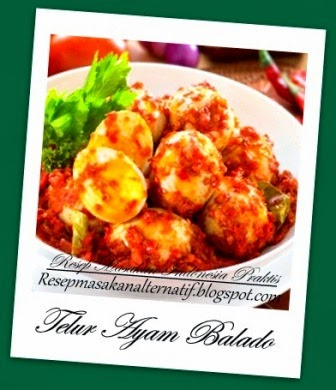 Resep dan Cara Membuat Telur Ayam Sambal Balado