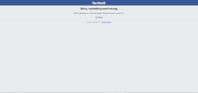 """فيس بوك"""" يتعطل عن العمل بشكلٍ مفاجئ"""