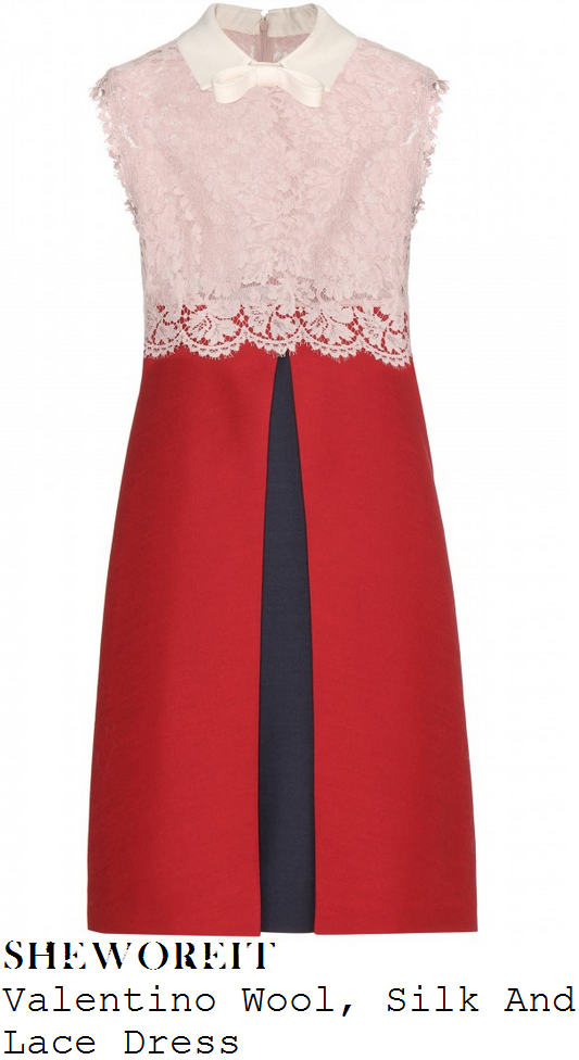 lucy-mecklenburgh-pink-red-navy-lace-collared-sleeveless-dress-birthday