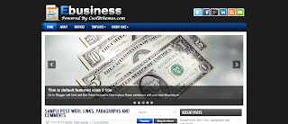 eBusiness Blogger Template is a business related premium blogger template