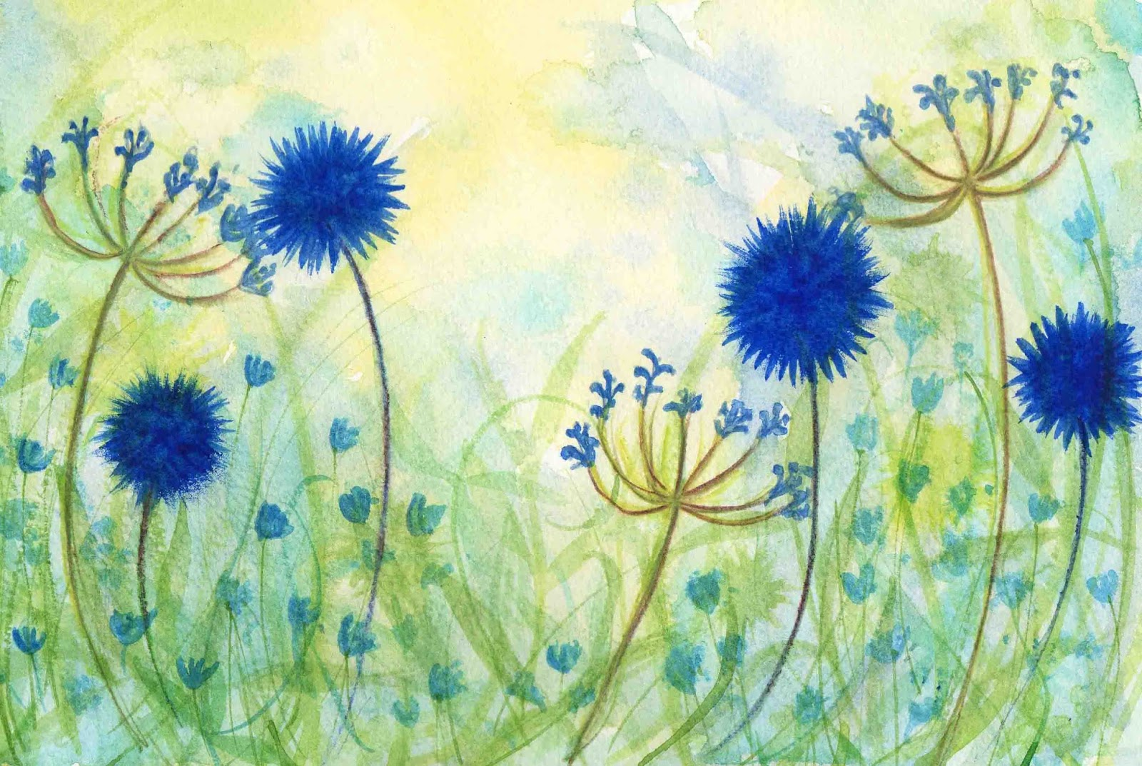 Life art and alteration easy watercolour wild flowers for How to paint something easy