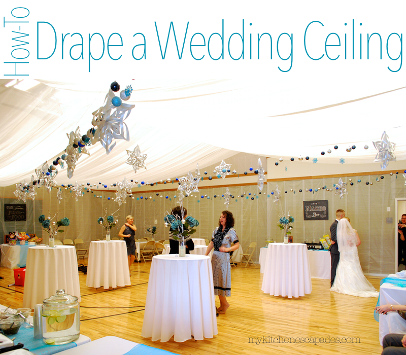 Wedding ceiling draping tutorial how to measure and hang a fabric ceiling draping tutorial for a wedding hall decoration solutioingenieria Choice Image