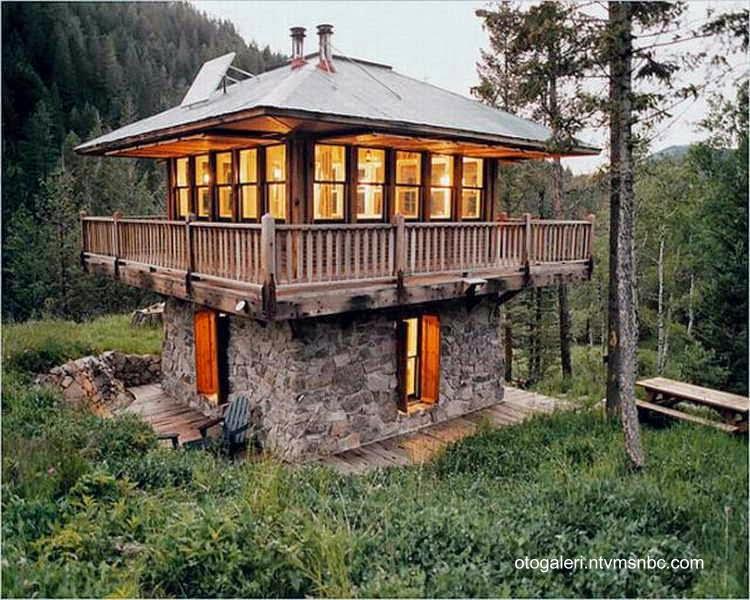 Cabaña rústica de montaña en Estados Unidos